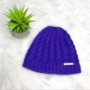 Under Armour Purple Cable Knit Beanie